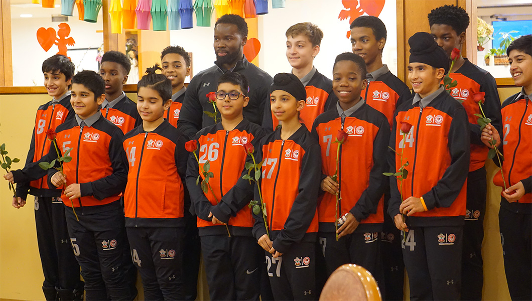 AFC Players Visit Seniors At Extendicare Brampton On Valentine Day