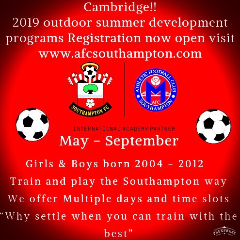 Outdoor Soccer technical development training in Cambridge registration is now open