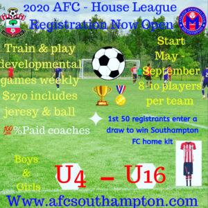 House league registration Open